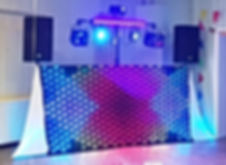 Wedding Disco LED Matrix Curtain Hire, www.russellprodj.com