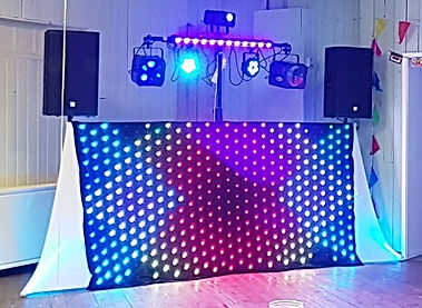 Wedding Disco LED Matrix Curtain Hire, www.russellprodj.com