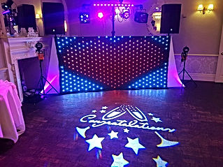 Custom Image Gobo Projector Hire in Hull www.russellprodj.com