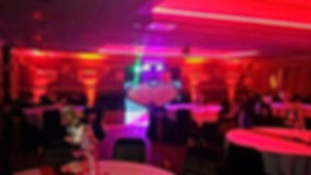 LED venue uplighting by Russell Pro DJ, Yorkshire. www.russellprodj.com