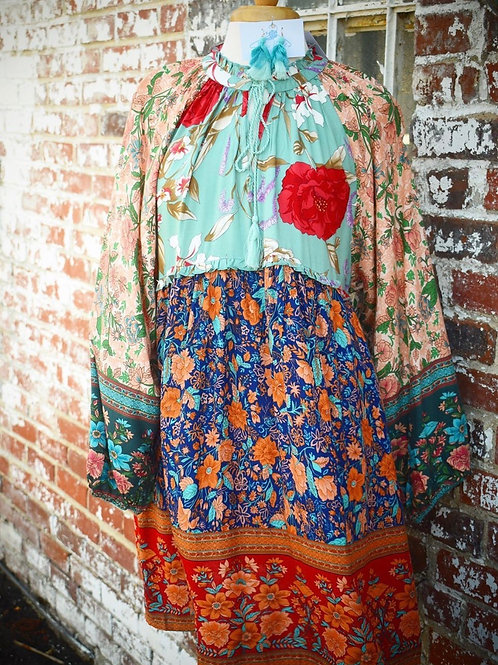 Umgee Multi Pattern Dress/ Tunic