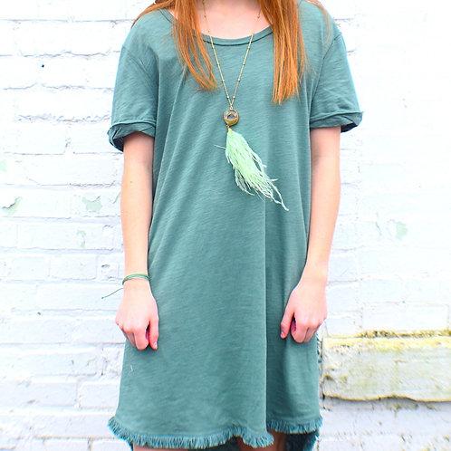 Green T-Shirt dress