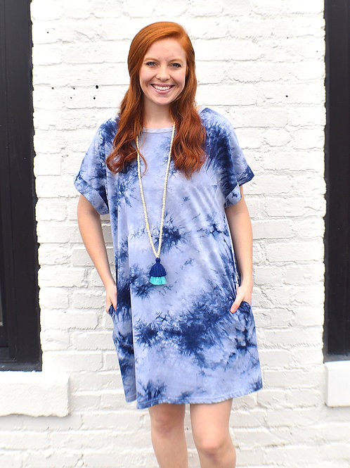 Bleu Tie Dye Dress