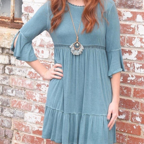Teal Knit dress