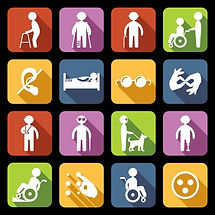 32133431-disabled-people-help-flat-icons