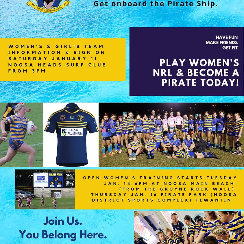Pirates Women & Girl's Team Information Day
