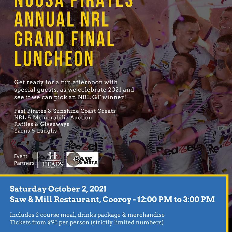 Noosa Pirates Annual NRL Grand Final Luncheon 2021