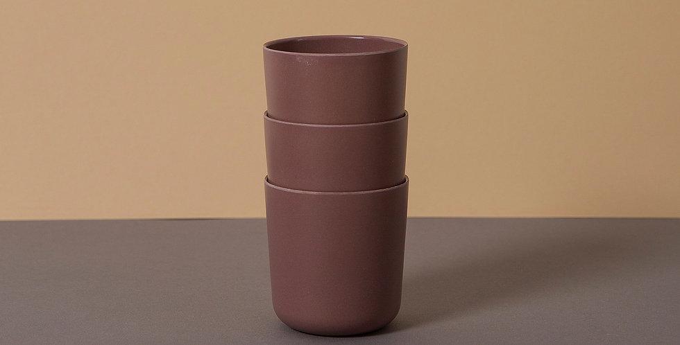 Bamboo Mug 3 pack, Beet