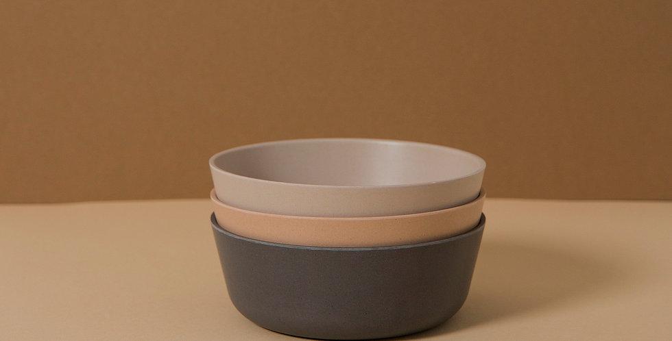 Bamboo Bowl 3 pack, Fog/Rye/Ocean