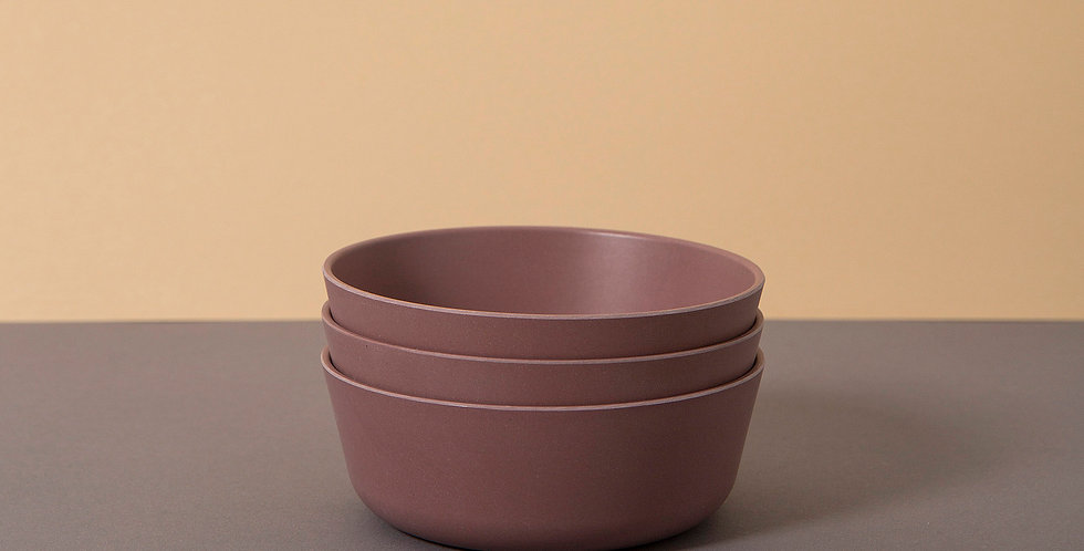Bamboo Bowl 3 pack, Beet