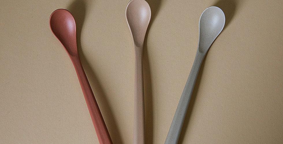 Bamboo Feeding Spoon, Fog/Rye/Brick
