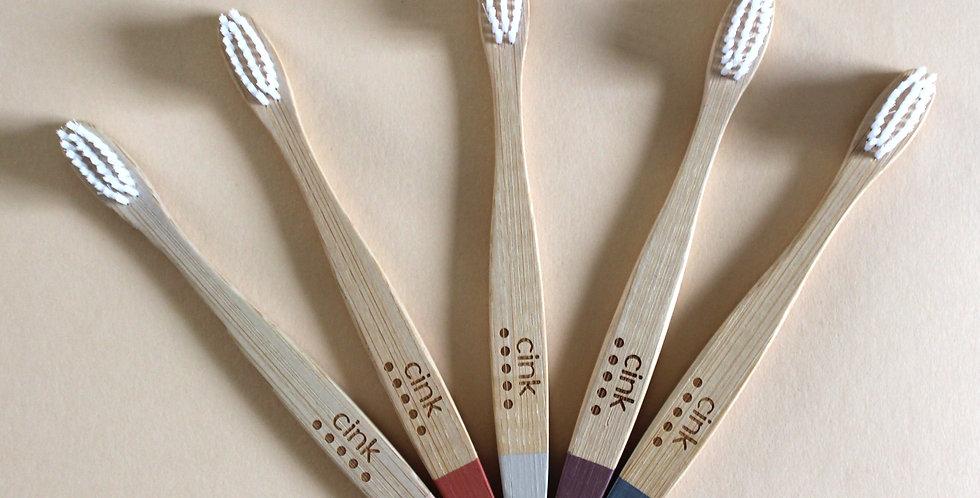 Bamboo Kid's Toothbrush, 5 pack