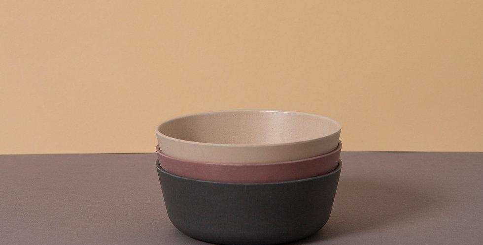 Bamboo Bowl 3 pack, Fog/Beet/Ocean