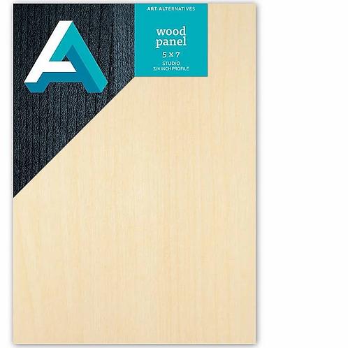 "Wood Panel 5"" x 7"", 3/4 inch profile"