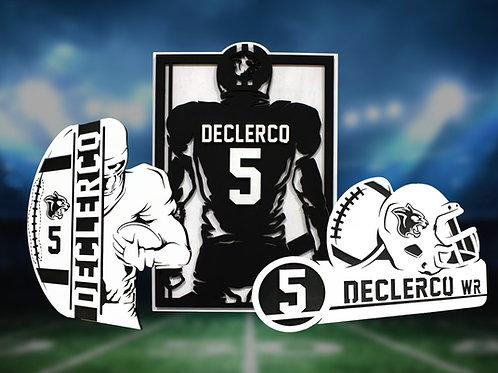 Stadium Series Personalized Sign - Football