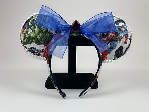 Hand-Crafted Avengers Themed Mouse Ears Headband