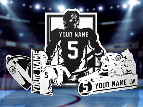 Stadium Series Personalized Sign - Hockey