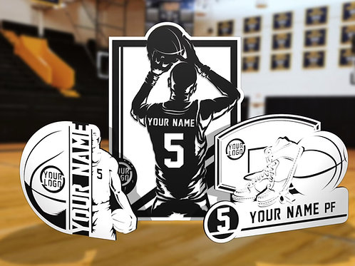 Stadium Series Personalized Sign - Basketball