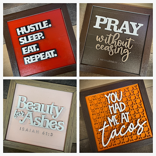 8 Inch Framed Multi-Layer Signs
