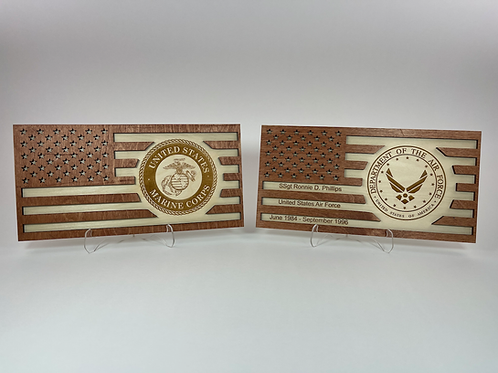 Flag Military and First Responder Award Sign