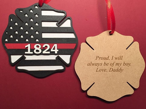 First Responder Christmas Ornaments