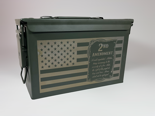 Laser Engraved Metal .50 Cal Ammo Canister
