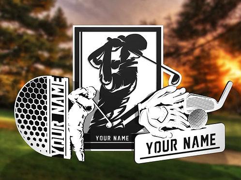 Stadium Series Personalized Sign - Golf