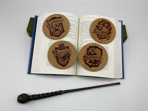 Wizard House Coaster Set