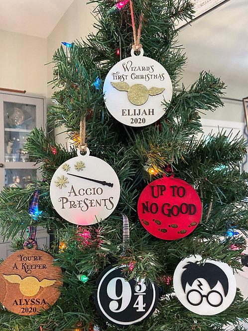 Wizarding World Christmas Ornaments