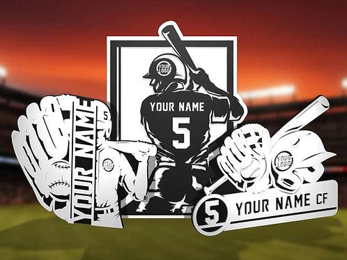 Stadium Series Personalized Sign - Baseball