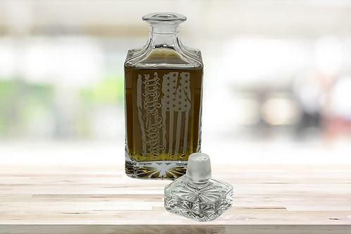 """Engraved """"We The People"""" Whiskey Decanter"""