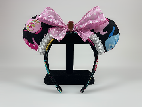 Hand-Crafted Mad Tea Party Themed Mouse Ears Headband