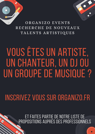 "Visuel ""casting"" pour Organizo Event"