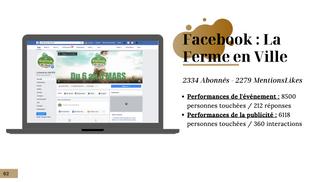 Indicateurs de Performance Facebook Ferme en Ville