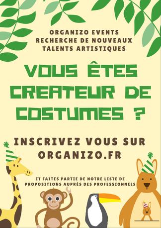 "Visuel ""casting"" pour Organizo Events"