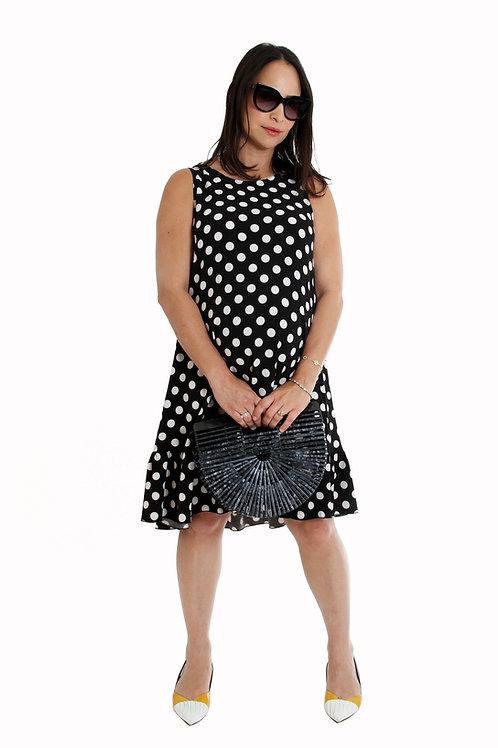 שמלת נועם שחור נקודות הריון