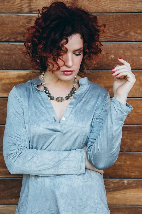 חולצת ונציה אפור מטאלי
