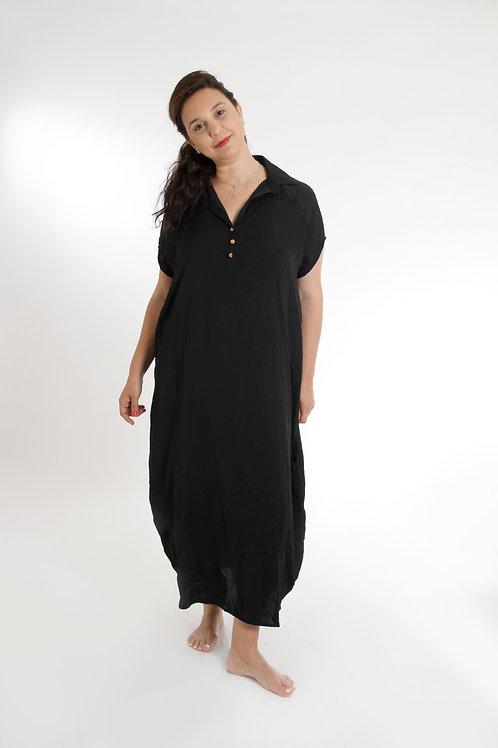 שמלת רותם מקסי שחור