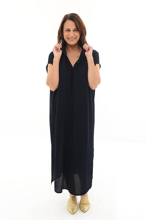 שמלת רותם מקסי כחול כהה