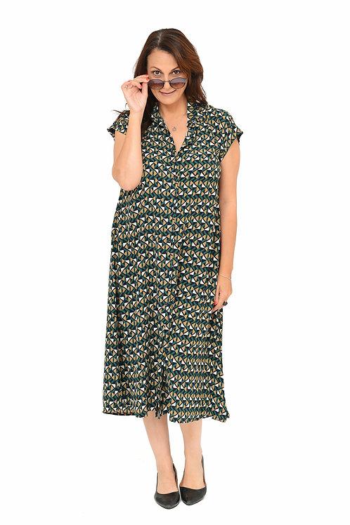 שמלת אמלי ירוק הדפס
