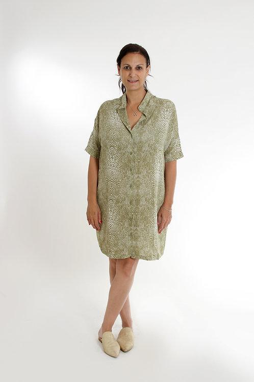 שמלת עדינה ירוק נחש