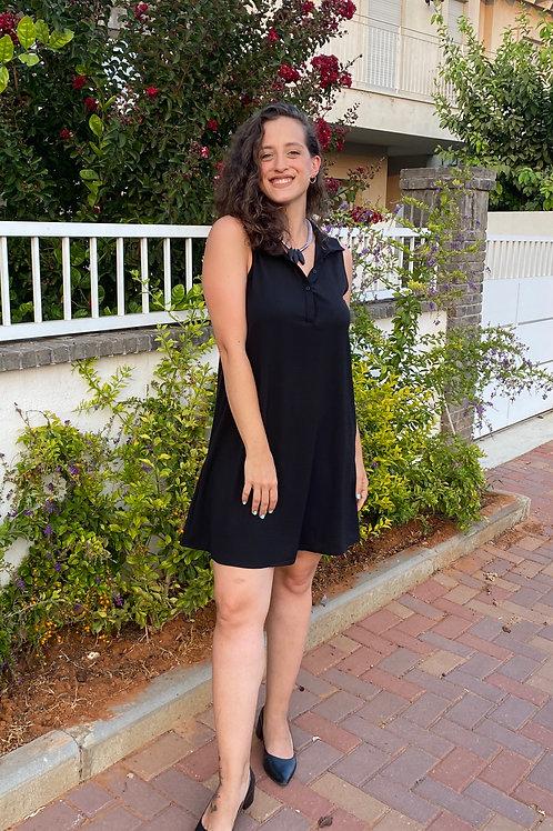 שמלת כפתורים שחור