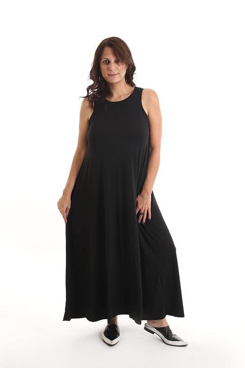 שמלת נאון שחור