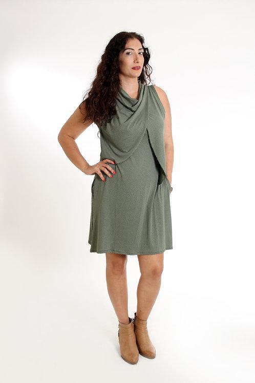 שמלת מיטל הנקה ירוק זית