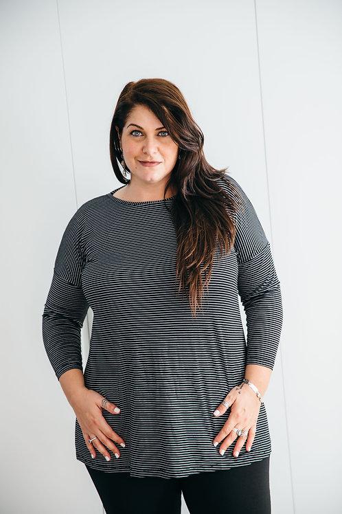 חולצת אורין שחור פסים PS