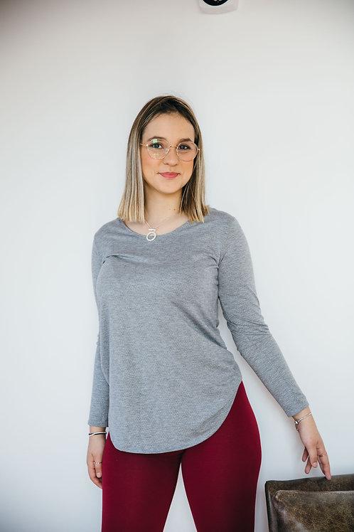 חולצת מאי אפור Y