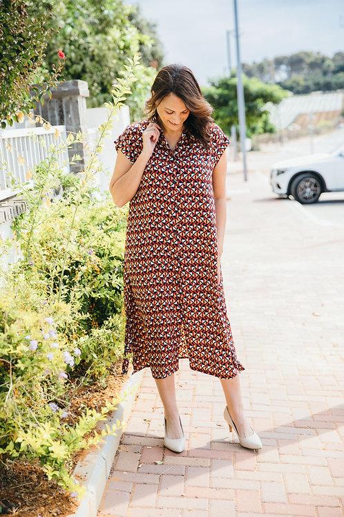 שמלת אמלי הדפס וינטאג