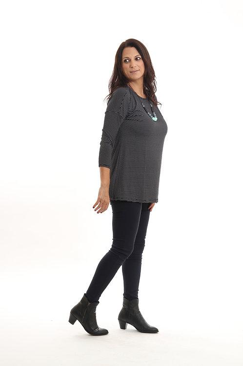 חולצת אורין שחור פסים
