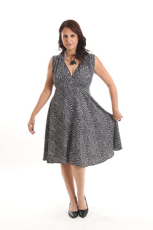 שמלת אלכסנדרה שחור הדפס