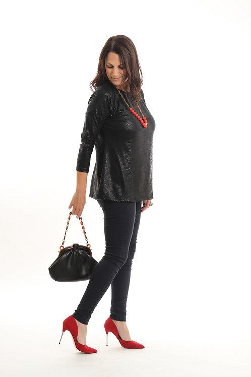 חולצת אורין שחור מבריק